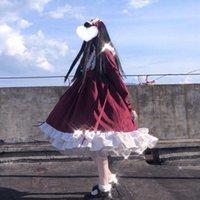 Gotik Bayan Elbise Lolita Kadınlar Yumuşak Kızçaklar Victoria Ortaçağ Günlük Elbiseler Kırmızı Mavi Pembe Parti Kadın Prenses Cadılar Bayramı Kostüm