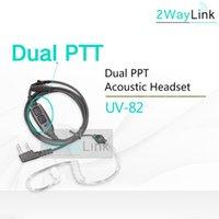 Walkie Talkie Dual PUV-82 Acoustic Headset Microphone For UV-82 Plus UV-8 UV82L UV-89 UV-82TP GT-5TP UV-82HP UV-82HX Air Tube Earpiece