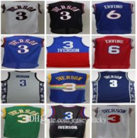 Männer Basketball Jersey Georgetown Hoyas College Allen Iverens Jerseys 3 Dr. Julius Erntes 6 Wilt Chamberlain 13 blau schwarz weiß rot atmungsaktiv