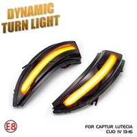 Lighting Led Car For Clio IV 4 BH Grandtour KH 2012 - 2021 Side Wing Dynamic Turn Signal Rearview Mirror Indicator Emergency Li Lights
