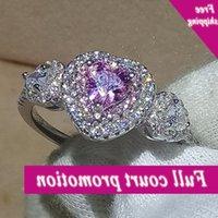 Liebhaber für Frauen Neue Schöne Luxus Schmuck rein 100% 925 Sterling Silber Rosa 5A CZ Hochzeit Herz Ring nie verblasst