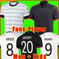 Alemania Fútbol Jersey 2020 2021 Fans Versión del jugador Hummels Kroos Gnabry Werner Draxler Reus Muller Gotze Copa Europea Camisa de Fútbol Uniformes Men + Kit Kit 999