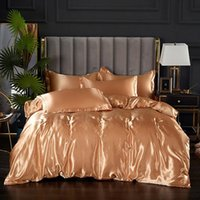 Bedding Sets Style Simulation Silk Satin 4-piece Ice Bed Bag Sheet Hat Queen Set Size