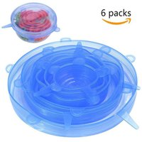 Silicone Stretch Suction Pot Lids Food Grade Tools Kitchen Fresh Keeping Wrap Seal Lid Pan Cover Nice Accessories 6PCS Set WY1349