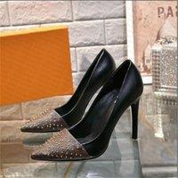 Nuovo 2021 Slide Sandal Designer Scarpe Luxury Summer Fashion High Tacchi alti 6CM Signore Tacchi alti di marca con scatola originale
