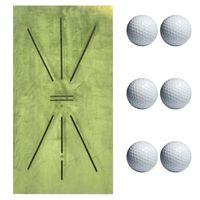 Нескользящая прокладка для гольфа Batting Mat Mat Golfer практика Помощь подушки помощи