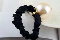 3 cm super goede kwaliteit c brief haar touw met stempels, handgemaakte grote parel haar ring hoofd touw haar bal hoofd rubberen band hoofdtooi partij cadeau