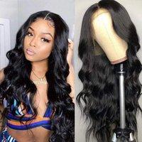 레이스 가발 150 % 13x1 4x1 T 부분 가발 인간의 머리카락 흑인 여성을위한 여왕 브라질 비 레미 바디 웨이브
