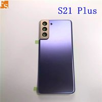 Orijinal Samsung Galaxy S21 Artı S21Plus Geri Pil Kapağı 3D Cam Arka Kapı Konut Kapak Kılıfı Yedek Galaxy S21 Için Logo Için