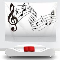الجدة الفن الموسيقى ملاحظة نمط نسيج شنقا الجدار البطانيات ضوء الوزن البوليستر النسيج جدار ديكور المنزل للموسيقى عاشق 1981 v2