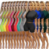 Designer Summer Women Tracksuits 2 Piece Set Shorts Outfits Solid Color Casual Yoga Womens Clothing Sexy Tops Suit Soft Bubble Jacquard Plus Size