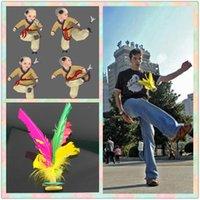 Marka Yeni Renkli Tüy Çin Jianzi Ayak Spor Oyuncak Oyunu Tekme Kick Ruttlecock Açık Oyunlar için