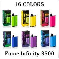 Fumée Infinity jetable e cigarettes 1500mAh Capacité de la batterie 12 ml avec 3500 bouffées supplémentaires Ultra Vape stylo Pré-remplissage Vapeurs de haute qualité VS Flair Plus Barreau d'air