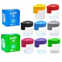 Cookies Backwoods Runtz LED Glow Jar Stash Empty Bottles E Cigarette Smoking Accessories 9 Colors Rechargeable USB Storage Container for Dry Herb Tobacco