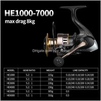 Sports à l'extérieur Drop Drop Livraison 2021 12BB Bobine d'eau salée Chine max Drag 10kg Haute vitesse Full Metal Spinning Rodernes J4XQZ