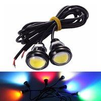 Światła awaryjne 2 sztuk 23mm LED Eagle Eye Drl DRL Running Running Source Backup Coversing Parking Lampy sygnalizacyjne Niebieski Zielony Czerwony Biały Żółty 12V