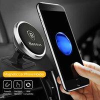Porte-téléphone de voiture de haute qualité de haute qualité 360 degrés Support de téléphone moblile magnétique GPS pour iPhone XS Samsung S9 Stand Stand Stand