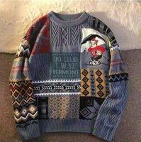 남자 스웨터 미국 레트로 조수 브랜드 가을과 겨울 스웨터