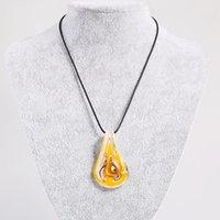 Personnalité Glaçure colorée Glasses Colliers Pendentif pour femmes Murano Glass Collier Bijoux