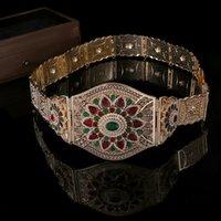 Марокко женская абая ремень золотой цвет красный зеленый камень национальное свадебное платье абая металлический ремень украшенные аксессуары большой размер