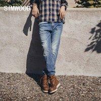 Simwood Bahar Kış Vintage Düzenli Düz Kot Erkekler Artı Boyutu Denim Pantolon Yüksek Kaliteli Marka Giyim SJ130846 210318