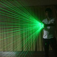 Мультинальные зеленые лазерные перчатки для вечеринок светящиеся для светодиодного робота костюм платье бар музыкальный фестиваль