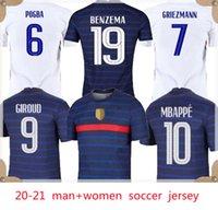 Euro 2020 Tasse Benzem Mbappe Griezmann Frankreich Fussball Jersey Pogba Giroud Kante Maillot de Foot Equipe Maillots Football Hemd Uniformen La 2021 Männer  Kit