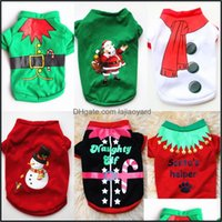 Apparel Supplies Home & Gardenchristmas Pets Clothes Xs S M L Chihuahua Pet Shirt Merry Christmas Year Dog Costume Drop Delivery 2021 Yzjrw