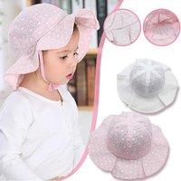 Caps & Hats Child Cap Infant Baby Cute Cotton Hat Summer Kids Princess Breathable Bucket Sun For Children 2021 Casquette Enfant
