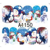 Virement des ongles Autocollant d'eau Décalque de Noël Thèmes de Noël Décoration de ongles pour manucure Stickers à ongles