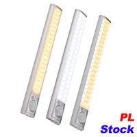 PL-Lager 160 LED-Treppen Nachtlicht Wireless Pir Motion-Sensing-Schrank unter Schreiner Beleuchtung USB-Wiederaufladbare Batterie