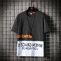 t shirt Casual sleeve men's summer loose cotton clothes brand short t-shirt