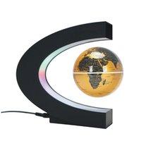 Novelty Lighting LED Magnetic Levitation Floating Globe Night Light Office Home Electronic Anti Gravity Ball Lamp Decoration