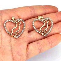 PCS cane mamma cuore ciondolo fascino amore charms regalo per le donne accessori uomo