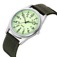 Assista Ouina Orkina Moda Masculina De Tricô Nylon Canvas com Luminous Leisure Quartz