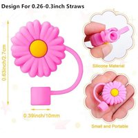Creative Silicone Straw Tips Cover Reusable Drinking Dust Cap Splash Proof Plugs Lids Anti-dust Tip for 7-8 mm Straws CCF6705