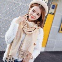 Scarves Winter Scarf Tartan Cashmere Women Plaid Blanket Designer Shawls And Wraps