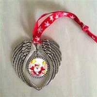 Сублимационные рождественские орнамент очарование ангела крылья формы пустые сердечные передача расходные материалы расходные материалы поставляет 15 штурмов / лот