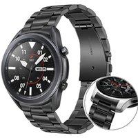 22 mm sin brecha de brecha correa para Samsung Galaxy Watch 3 45 mm banda de pulsera de acero inoxidable pulsera 46mm / engranaje S3 bandas