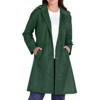 Women's Trench Coats Basic Coat Jacket Women Turn-Down Collar Solid Colors Bomber 2021 Spring Casual Loose Thin Full Sleeve Long Outwear