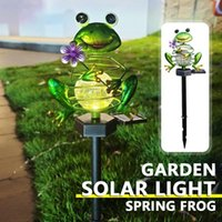 Lawn Lamps Garden Spring Frog Solar Lights Decoration Lamp Outdoor Yard Terraces Patio Waterproof Ground Plug Light