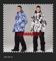 Skiing Suits Men Ski Suit Super Warm Clothing Snowboard Jacket+Pants Male Snow Set Windproof Waterproof Winter Coat Outdoor Sportswear