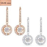 QSJIE de alta calidad SWA nuevo estilo. Un pendiente ágil y encantador joyería de moda glamorosa 210323