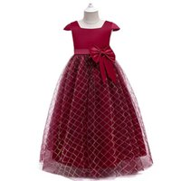 Girls Dresses Baby Clothes Kids Clothing Evening Lace Long Party Formal Princess Dress Costume B7630