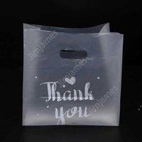Danke, Kunststoff Geschenk Wrap Tasche Tuch Lagerung mit Griffpartei Hochzeit Candy Cake Wrappapping Bags Daj133