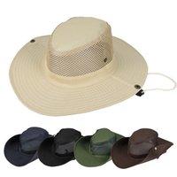 Sombrero de color sólido al aire libre Pescador Ve Pesca Sombrilla Cap Camuflaje Montañismo Escolar Hombre Mujeres Accesorios de Moda Primavera Verano 4 35hs Y2