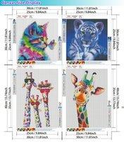 4-Pack Diy Diamond Peinture, 5D Résine brillante Animal Art Peintures Kits pour adultes et enfants, suspendu au mur comme bureau de la boutique à domicile HWF9948