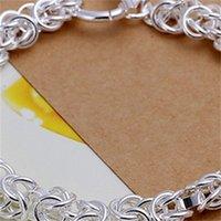 أزياء المرأة 925 الفضة لوحة سوار الاسترليني الفضة مطلي سحر أساور DFMB3 214 R2