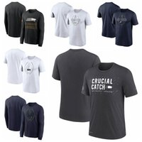 "Seattle""Seahawks""Men Women Youth 2021 Crucial Catch Performance Football T-Shirt Charcoal"