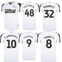 21 22 Derby House County Futbol Formaları 10 Lawrence Özelleştirilmiş Futbol 2021 Jersey 7 Paterson 8 Dowell 32 Rooney 48 Buchanan Gömlek Beyaz Setleri